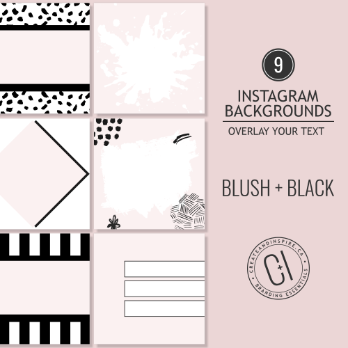 Blush and Black Instagram Backgrounds