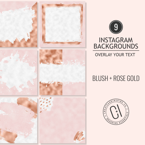 Blush and Rose Gold Instagram Backgrounds