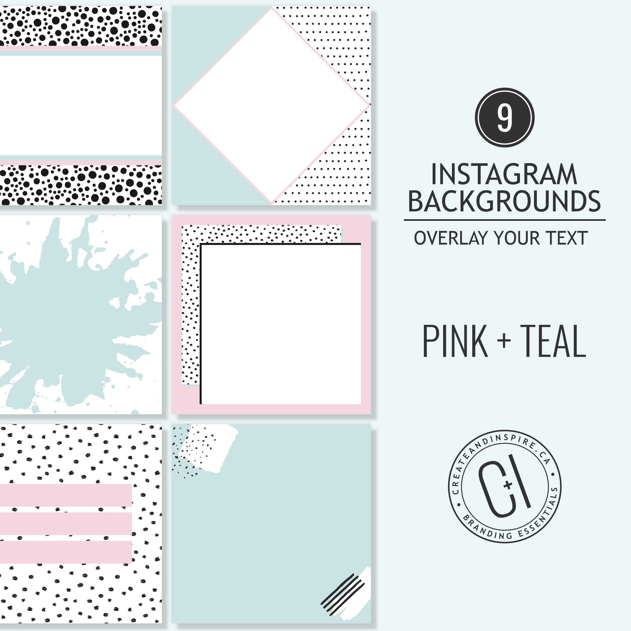 Pink and Teal Instagram Backgrounds