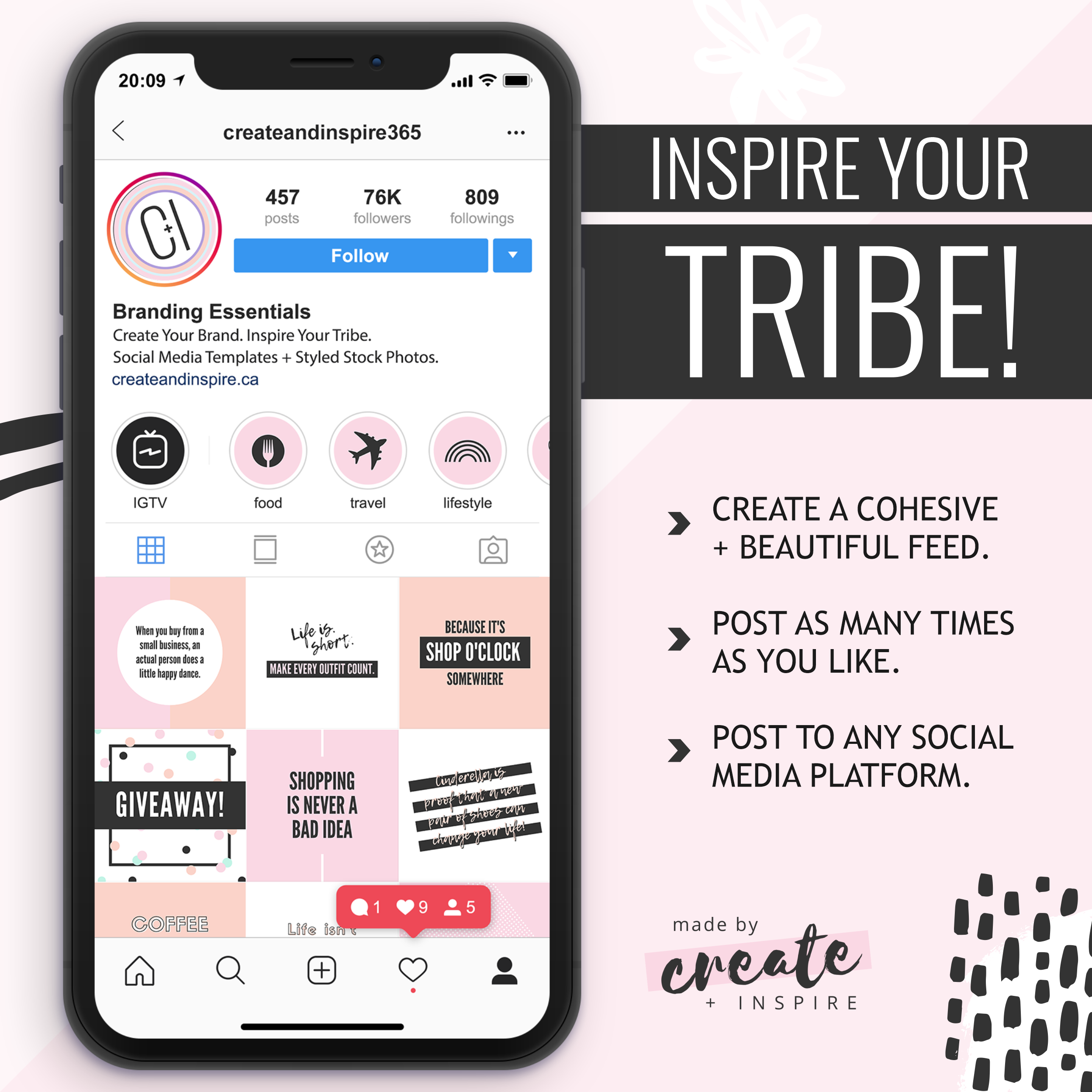 Fashion Instagram Quotes Canva Template