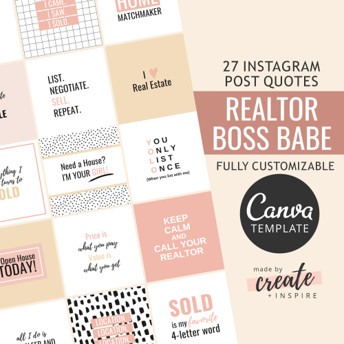 Realtor Instagram Quotes Canva Template