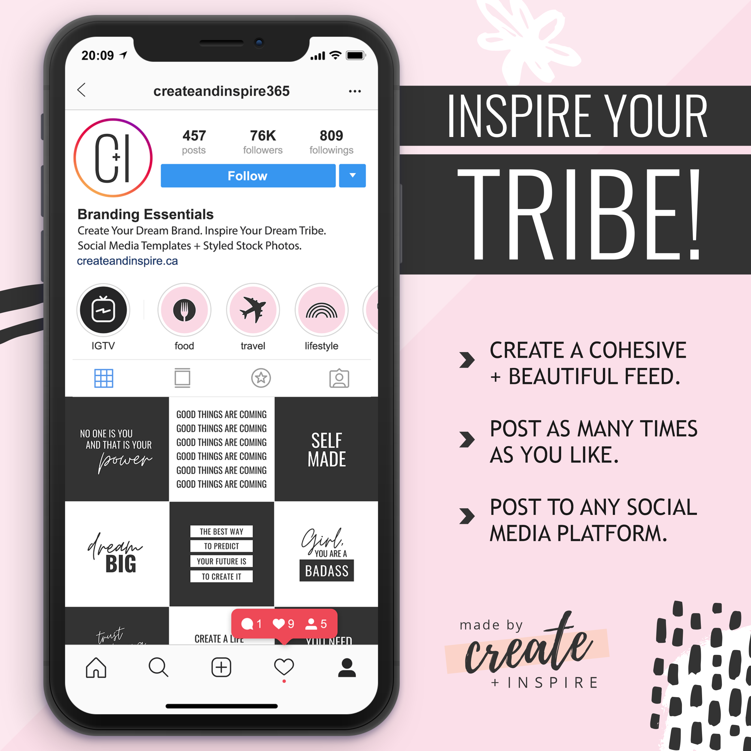 Boss Babe Instagram Quotes Canva Template